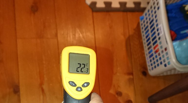 暖かい家@高尾 床下エアコンで床の温度が22℃を越える暖かさ