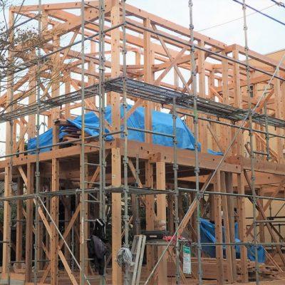 鎌倉の家 建築現場
