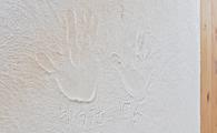 漆喰に手形