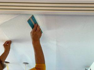 天井に漆喰