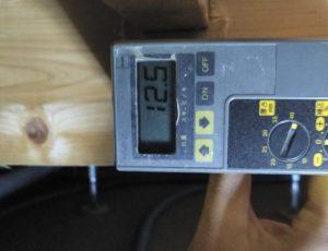 床下の木材の含水率